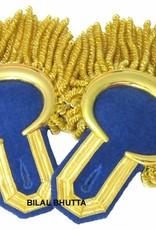 Epauletten gold mond und Tresse mit Raupen (ein Paar)