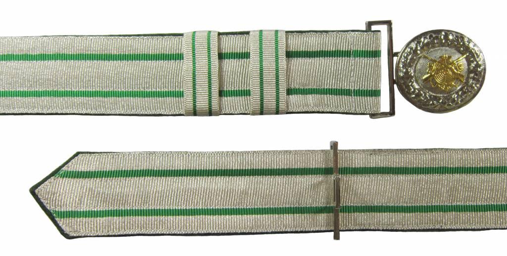 Feldbinde silber mit grünen Streifen (grün National)