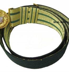 Feldbinde gold mit grünen Streifen (grün National)