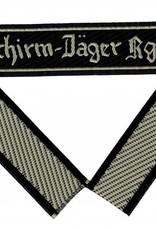 """WH LW Ärmelband """"Fallschirm-Jäger Rgt.1"""" Bevo cuff title"""