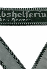 WH Ärmelband ''Stabshelferin des Heeres'' grün gewebt Cuff title