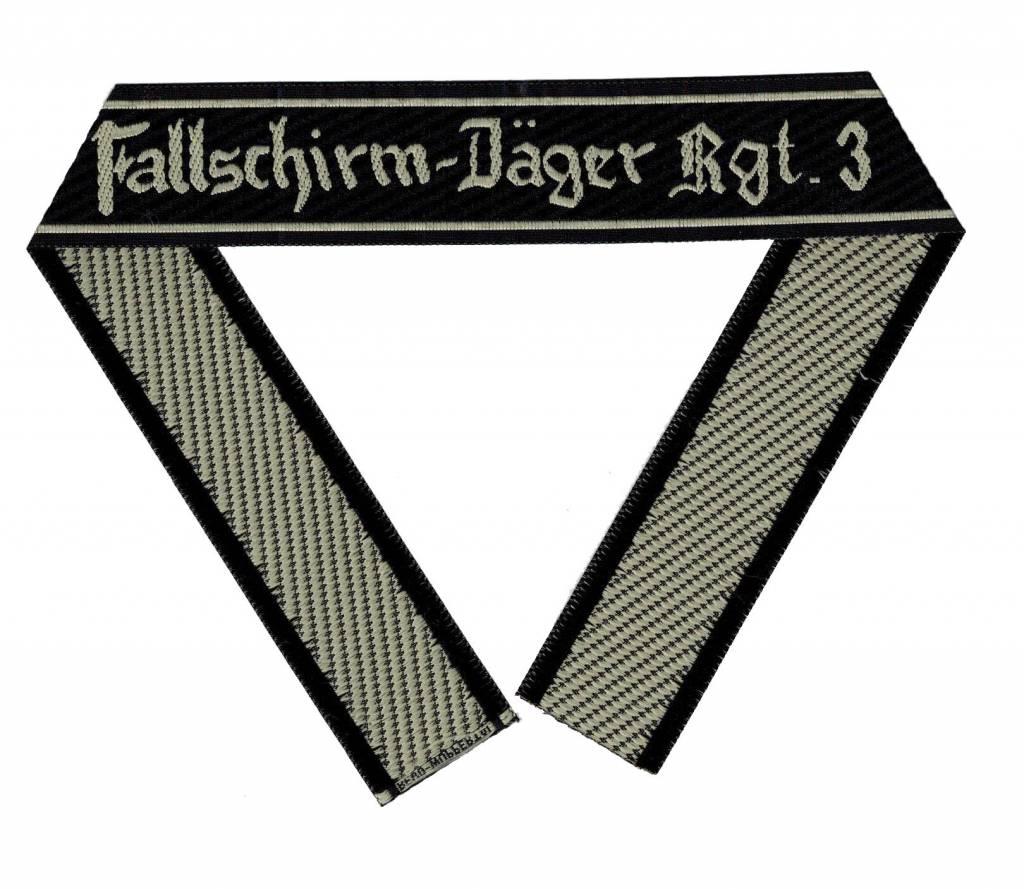 """WH LW Ärmelband """"Fallschirm-Jäger Rgt.3"""" Bevo cuff title"""
