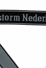 WWII Elite Ärmelband ''Landstorm Nederland'' gewebt WH Cuff title