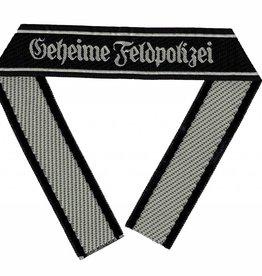 """WH Ärmelband """"Geheime Feldpolizei"""" Bevo Cuff title"""