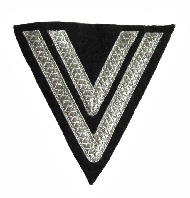 WH Rangabzeichen Elite Obergefreiter, schwarz Winkel