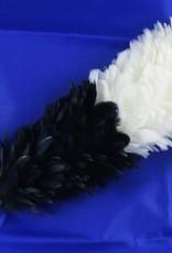 schwarz-weiß Federbusch - Klein
