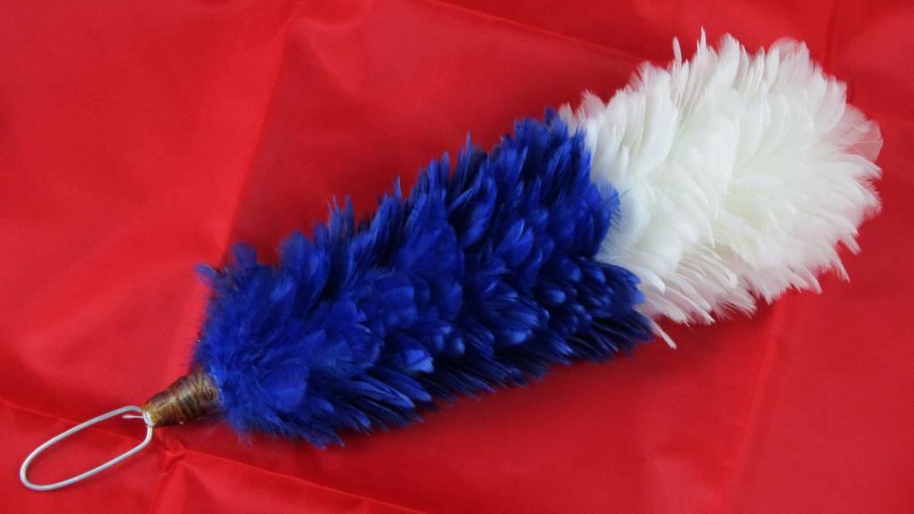 blau-weiß Federbusch - Klein