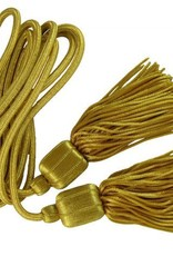 Gold Fahnenquasten mit Bouillonfransen