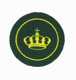 Krone mit Umrandung - goldgelb
