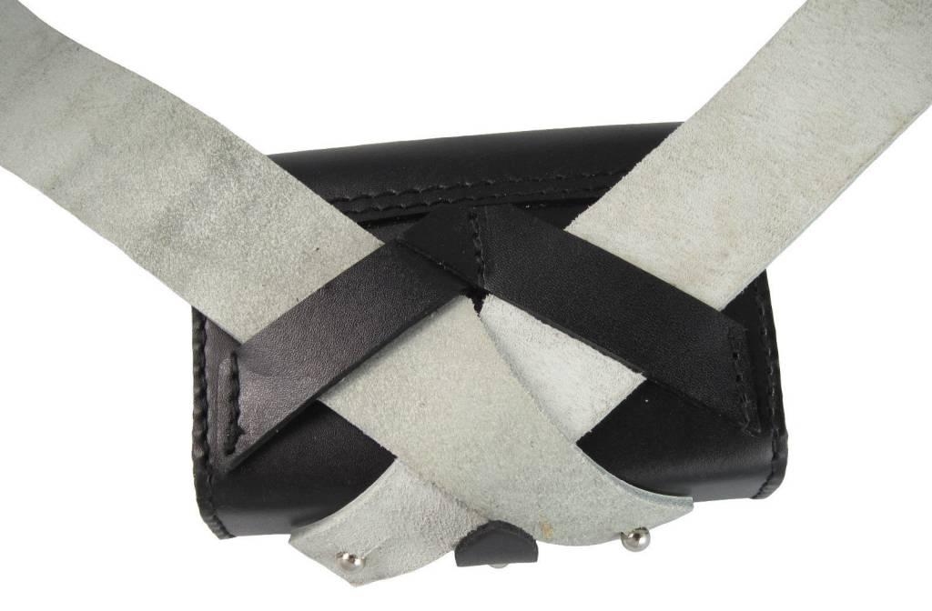 Bandoliere aus Rindleder mit Tasche