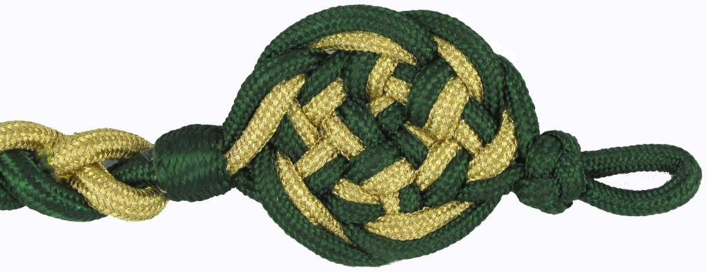Schützenschnur grün/gold  Schießschnur