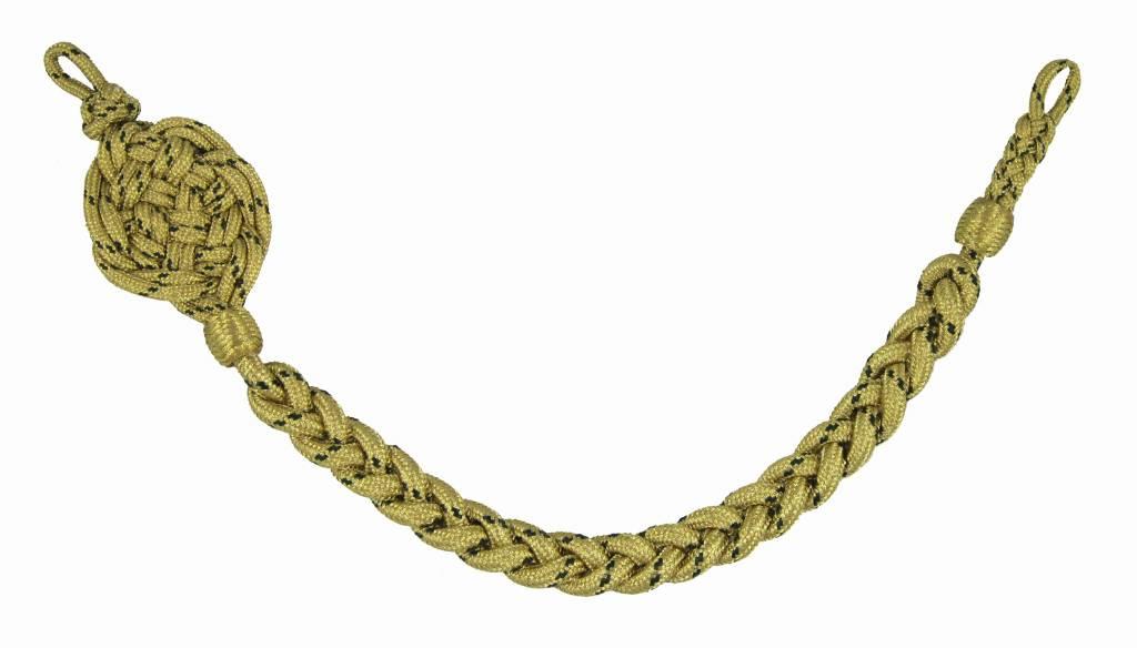 gold Schützenschnur mit grün National, Schießschnur