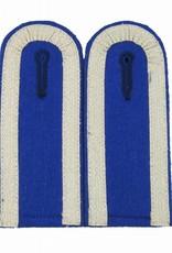 Schulterklappen mit 3 Seiten Silber Tresse