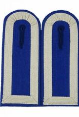 Schulterklappen mit 4 Seiten Silber Tresse