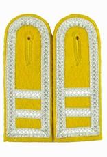 gelb Schulterklappen mit silber Tresse