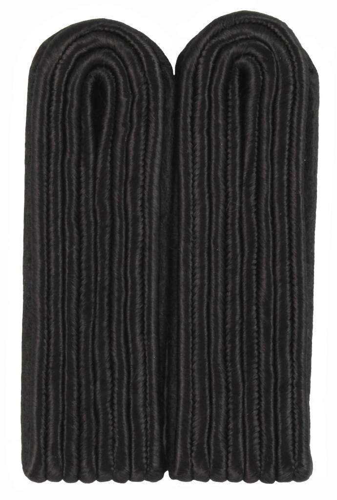 4-streifige Schulterstücke - schwarz