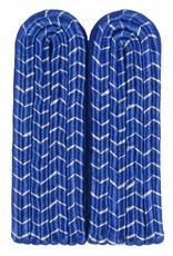 4-streifige Schulterstücke - blau mit silber National