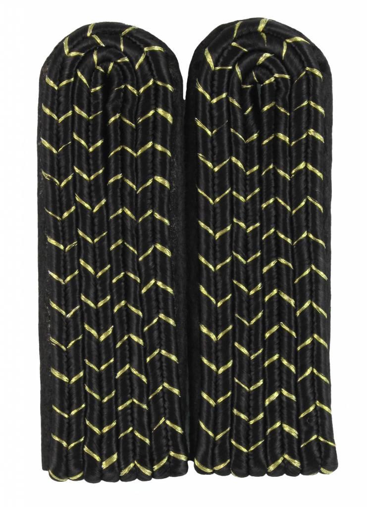 4-streifige Schulterstücke - schwarz mit gold National