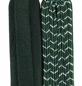 4-streifige Schulterstücke - grün mit silber National