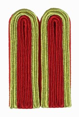 4-streifige Schulterstücke in gold/rot für Unteroffizier