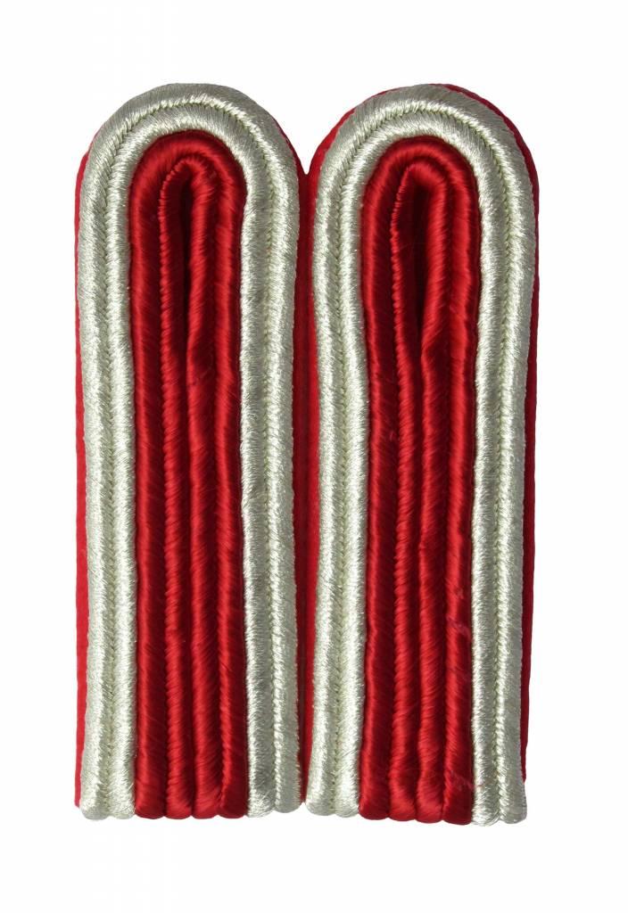 4-streifige Schulterstücke silber/rot für Unteroffizier