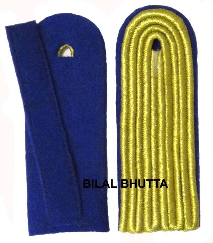 5-streifige Schulterstücke in goldfarbig