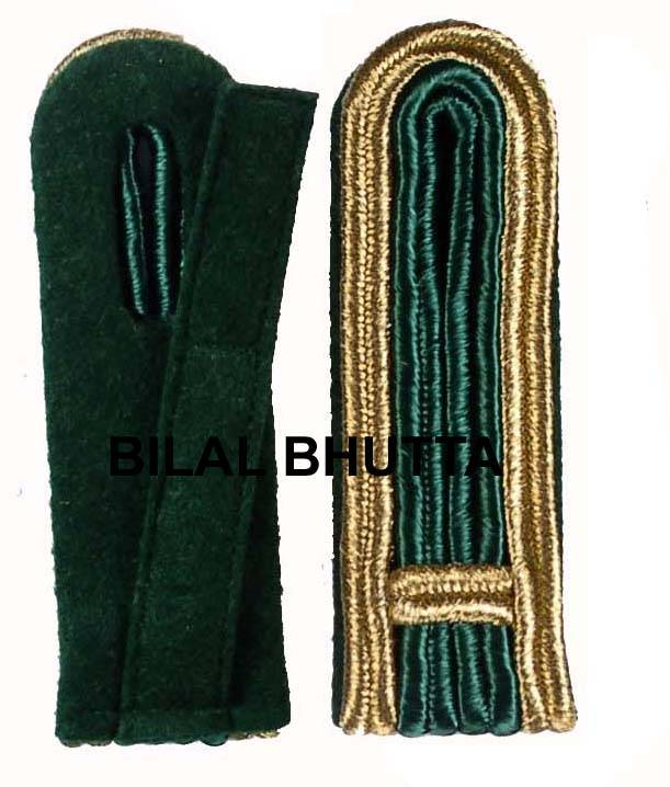 4-streifige Schulterstücke in gold-grün für Feldwebel