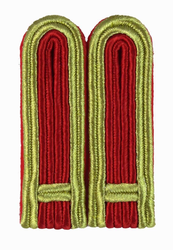 4-streifige Schulterstücke in gold-rot für Feldwebel