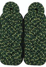 Schultergeflechte - Majorsgeflecht grün mit gold National (Flachschnur)