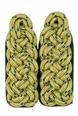 Schultergeflechte - gold mit grün National
