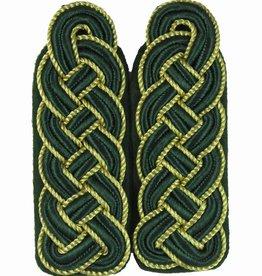 Schultergeflechte - grün Soutache mit gold Kordel