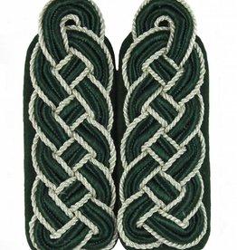 Schultergeflechte - grün Soutache mit Silber Kordel
