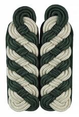 Schultergeflechte - silber/grün (8-bogig)
