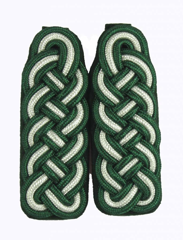 Schultergeflechte grün-silber-grün