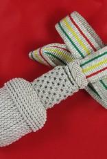 Silber Portepee mit Tresse (grün-gelb-rot)
