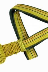 Gold Portepee mit Tresse auf grün
