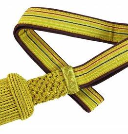 Gold Portepee mit Tresse auf dunkelrot