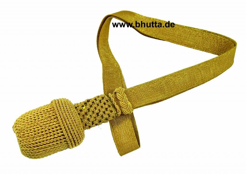 gold Portepee mit Tresse (Große Ausführung)