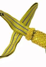 Gold Portepee mit Gestreifer gold Tresse (grosse Ausführung)