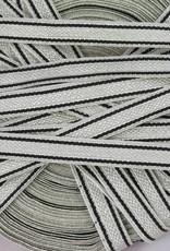 Kaiserreich Tresse silber/schwarz 10mm