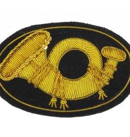 Handgestickte Offizier Kepi Abzeichen für Infanterie, Horn