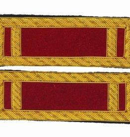 Handgestickte Schulterstücke 1st Lieutenant Artillerie