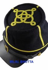 CS / US Kepi dunkelblau Captain, Lederschirm