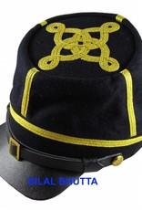 CS / US Kepi dunkelblau Major bis Colonel, Lederschirm