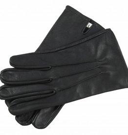 schwarze Handschuhe aus Ziegenleder