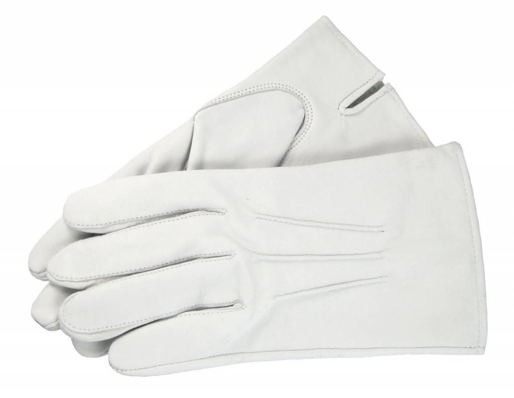Weiße Handschuhe aus Ziegenleder