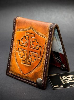 "Harp Leather Leder-Geldbeutel ""Crusader Cross"""