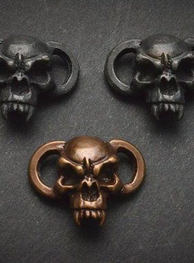 Schmuckatelli Fang Boot Lace Bracelet Skull