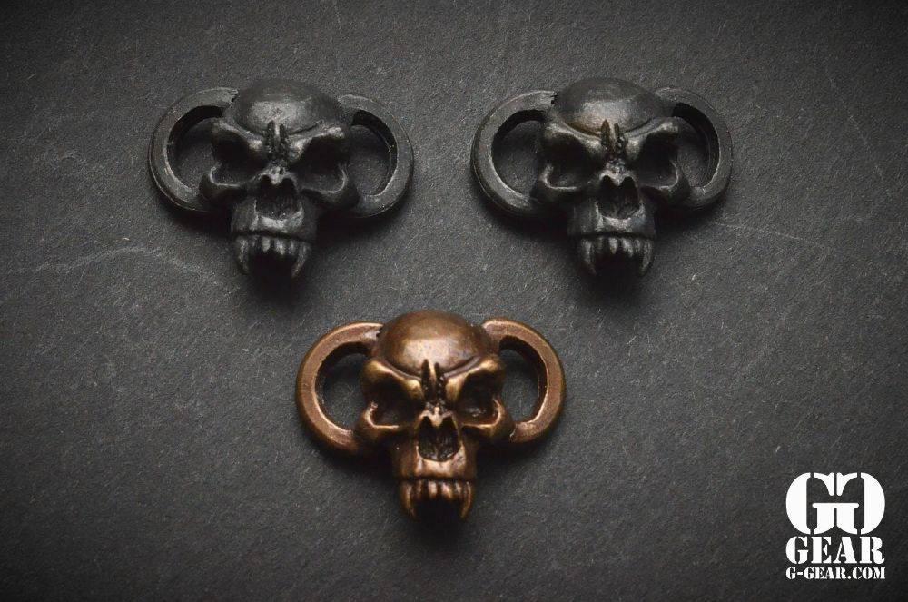 Schmuckatelli Schmuckatelli - Fang Boot Lace/Bracelet Skull