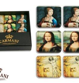 CARMANI - elegante Porzellanserien in Limited Edition. Leonardo da Vinci -Set - 6 Magneten